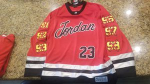 Michael jordan jersey hockey rare size large stiched high quality for Sale in Clovis, CA