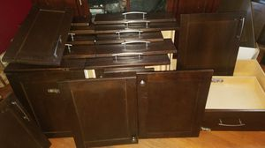 Kitchen drawers and cabinets doors with hinges for Sale in San Antonio, TX