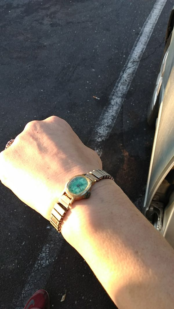 Vintage Timex Jade Backing