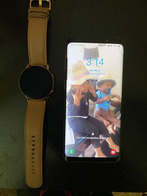 Samsung galaxy s9 phone and watch for sale watch new for Sale in Westerville, OH
