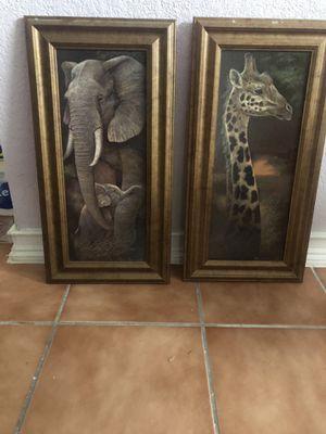 Wall decor safari for Sale in San Antonio, TX