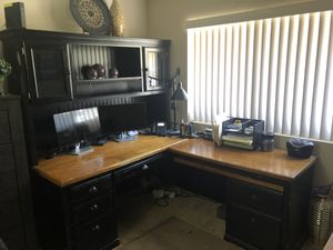 Moving - MUST SELL!!! Office Deck with Hutch & File Cabinet for Sale in Chino, CA