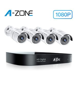 Security Camera System Outdoor, 8-Channel Full HD 1080P Bullet AHD Surveillance System, 4 Outdoor/Indoor 3.6mm Fixed Lens IP66 Waterproof Cameras, for Sale in Orange, CA