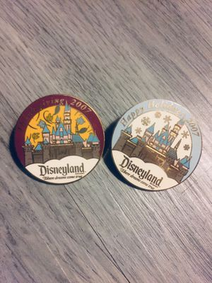 Disneyland Cast Exclusive 2007 Holiday Pins for Sale in Riverside, CA