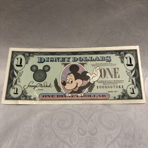 Set of 4 Disney Dollars (Sequential serials)- Perfect Conditiona for Sale in Denver, CO