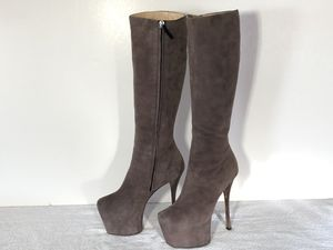 Giuseppe Zanotti taupe Amber Stiletto Platform boots - size 38 for Sale in Thornton, CO