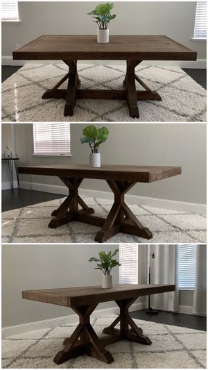 6FT x 3FT Solid Wood Rustic Farmhouse Dining Table for Sale in Fresno, CA