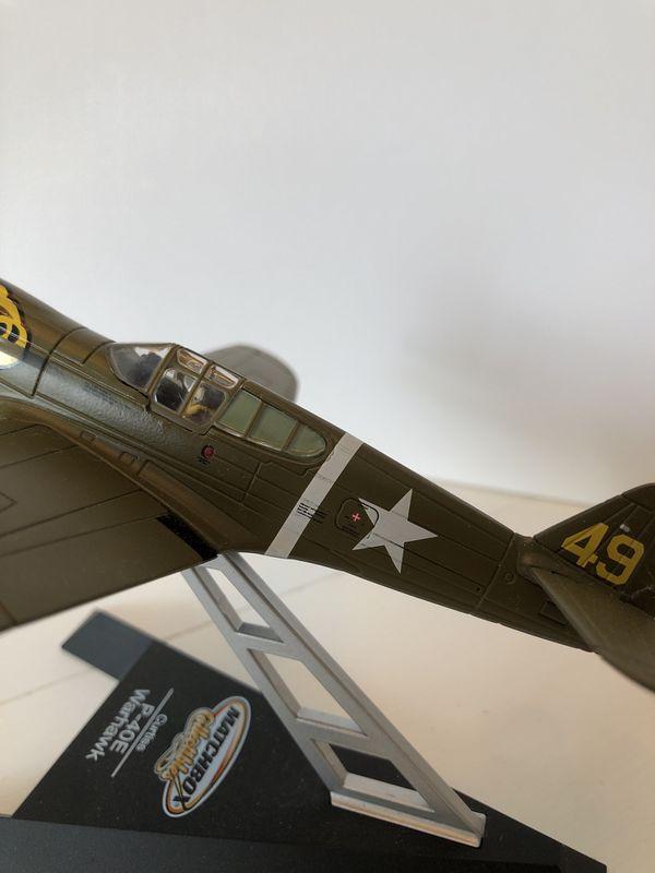 Matchbox collectibles desk top plane Warhawk