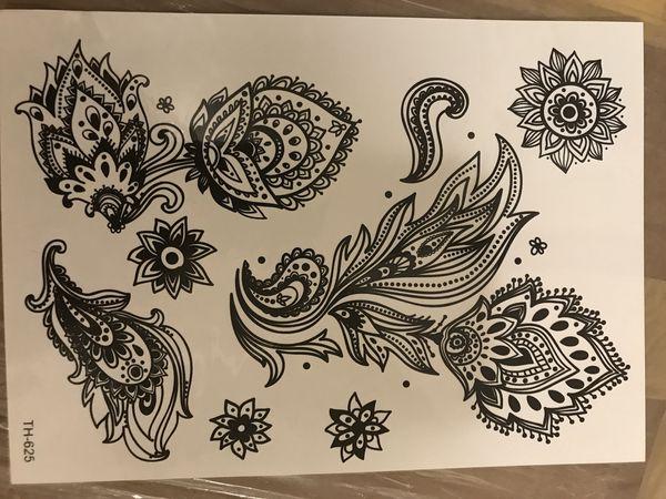 New temporary henna tattoo stickers