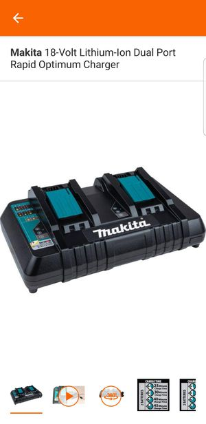 Makita 18-Volt Lithium-Ion Dual Port Rapid Optimum Charger for Sale in Elk Grove, CA