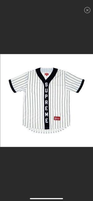 Supreme Baseball Jersey - Vertical Logo - Size Medium for Sale in Fullerton, CA