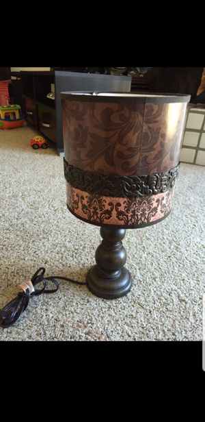 Nice wood lamp with shade for Sale in Peoria, AZ
