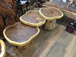 Hobbit style Coffee table exotic hardwood for Sale in Homestead, FL
