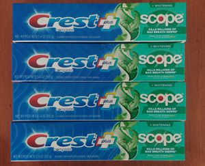 Crest with scope toothpaste $2.50 for Sale in San Jose, CA