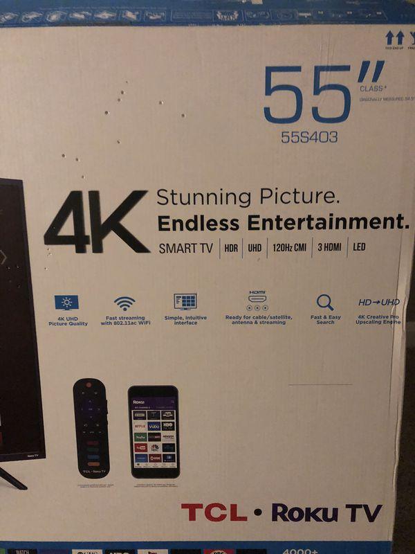 """TCL 55"""" Smart TV (Roku)"""