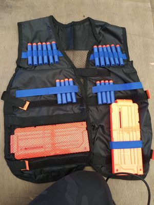 New Nerf Tactical Vest, with Two Reloadable Clips and 10 rounds of ammunition for Sale in San Diego, CA