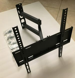 New in box 22 to 55 inches swivel full motion tv television wall mount bracket single arm for Sale in Montebello, CA
