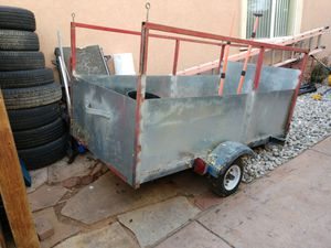 Utility trailer with metal sheets for Sale in Denver, CO