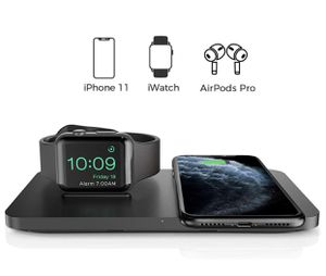 Wireless Charger, 2 in 1 Dual Wireless Charging Pad with iWatch Stand for iWatch 5/4/3/2, 7.5W Qi Fast Charger for iPhone 11/11 Pro Max/XR/XS M for Sale in Las Vegas, NV