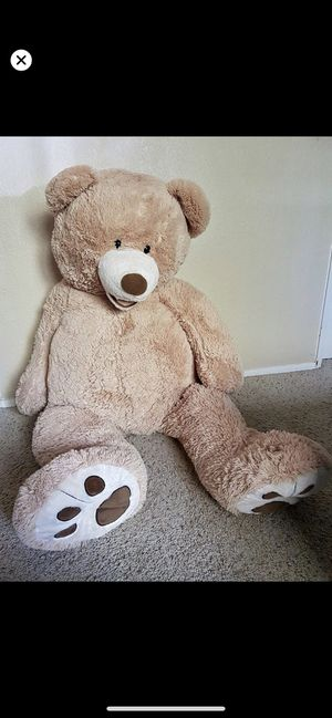 Giant plush teddy bear large size soft toy almost new for 10$ only for Sale in Bellevue, WA