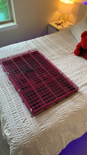 Hot Pink Diva Dog Cage / Wire Dog Kennel for Sale in Quincy, MA