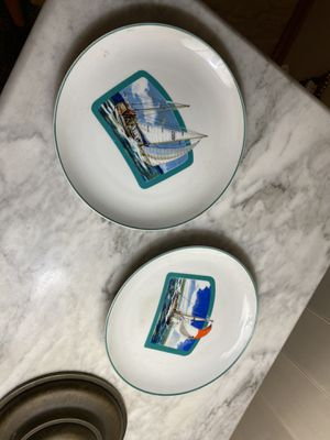 "Fred Roberts Sailboat or Yacht Plate, 7 1/2"" Diameter, Japan set for Sale in San Bernardino, CA"