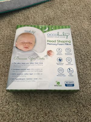 Occco baby head shaping memory foam pillow for Sale in Largo, FL