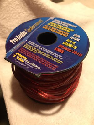 Pro Audio - High Performance Speaker Wire 100' / 18 gauge for Sale in Fairland, IN