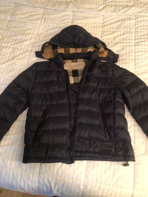 Burberry Men's Goose Feather Down Coat- XTRA LARGE BLUE for Sale in Boston, MA