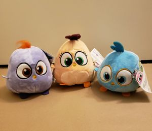 NEW Angry Birds Hatchlings Set of 3 Plushies for Sale in San Diego, CA