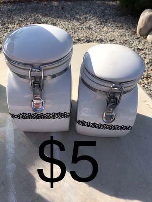 Farmhouse canister $5 for Sale in Hemet, CA