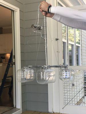 George Kovacs   Chrome Jewel Box 6 light Chandelier for Sale in Apex, NC