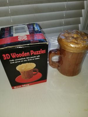 CHH games 3D beer mug puzzle for Sale in Panama City, FL