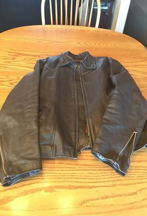Brown leather motorcycle jacket. for Sale in Butte, MT