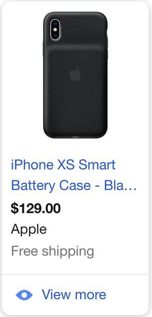 IPhone XS Smart Battery Case - Black for Sale in Phoenix, AZ
