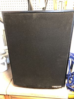 "Klipsch subwoofer. Serial number 17591863 18"" high 13"" deep good condition $50 for Sale in North Las Vegas, NV"