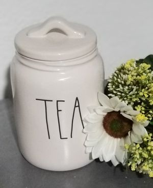 Rae Dunn TEA canister / farmhouse decor kitchen home storage for Sale in Compton, CA