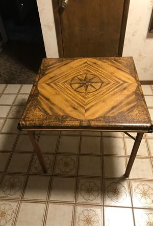 Antique 1930s Shwayder brothers Samson wood leg card table $75 for Sale in Madera, CA
