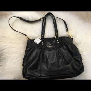 Coach black leather Ashley hobo bag/ crossbody purse for Sale in Portland, OR