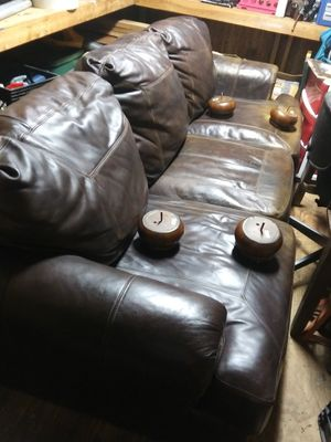 Genuine Leather Couch for Sale in Dothan, AL