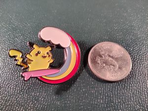 *SHIP ONLY* Surfing Pikachu Hard Enamel Collectible Pokemon Pin Rainbow Badge for Sale in Phoenix, AZ