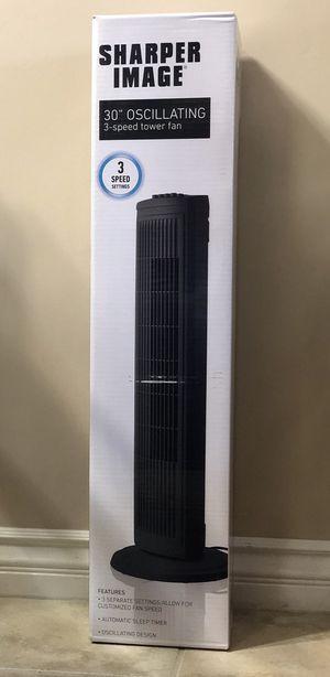 Sharper Image 3-speed Tower Fan for Sale in San Diego, CA