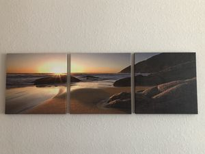 Beach Canvas Set of 3 for Sale in Tampa, FL