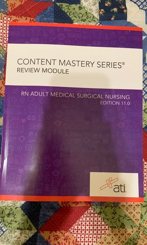 Content Mastery Series RN Adult Medical Surgical Nursing Edition 11.0 for Sale in Denver, CO