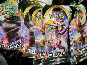 Pokemon Sword & Shield REBEL CLASH 10 card Booster Packs for Sale in Graham, WA