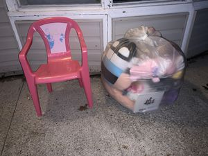 Girl toys and 1 kid chair for Sale in Sheffield, OH