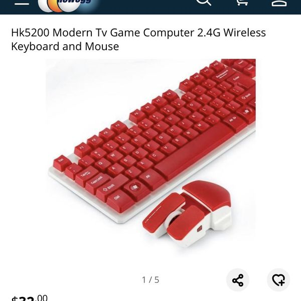 Wireless Keyboard And Mouse Set, New