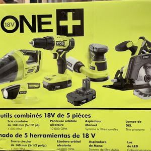 Ryobi 18 Volt ONE+ Cordless 5 Tool Combo Kit for Sale in Kissimmee, FL
