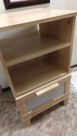 Blond Ikea bedside table with roller drawers for Sale in Tacoma, WA
