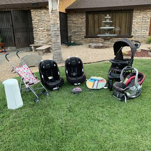 Baby / Toddler Items - Car seat stroller backpack diaper trash storage tummy time for Sale in Fresno, CA